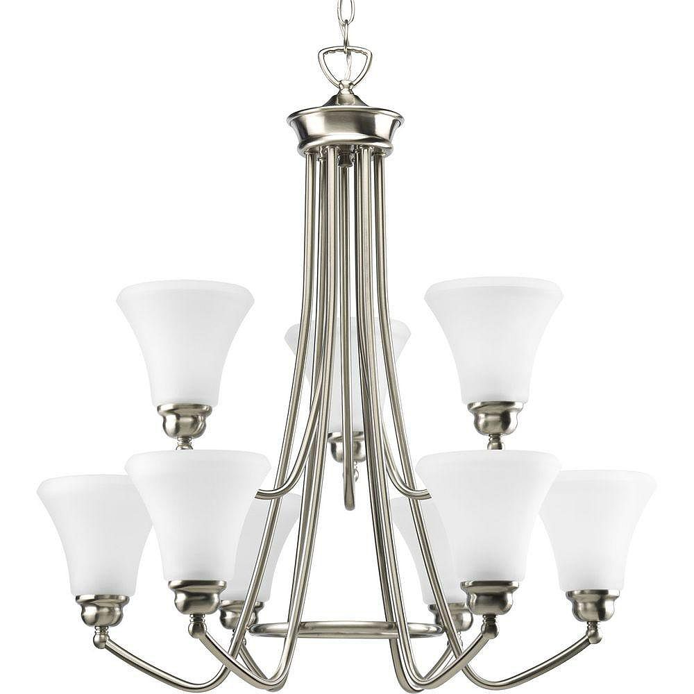 Progress Lighting Janos Collection Brushed Nickel 9-light Chandelier
