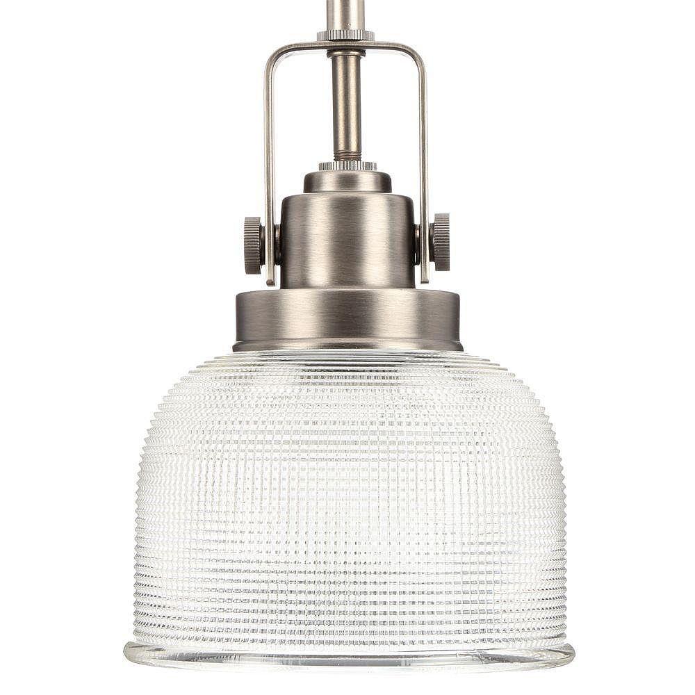 Progress Lighting Mini suspension à 1 Lumière, Collection Archie - fini Nickel Ancien