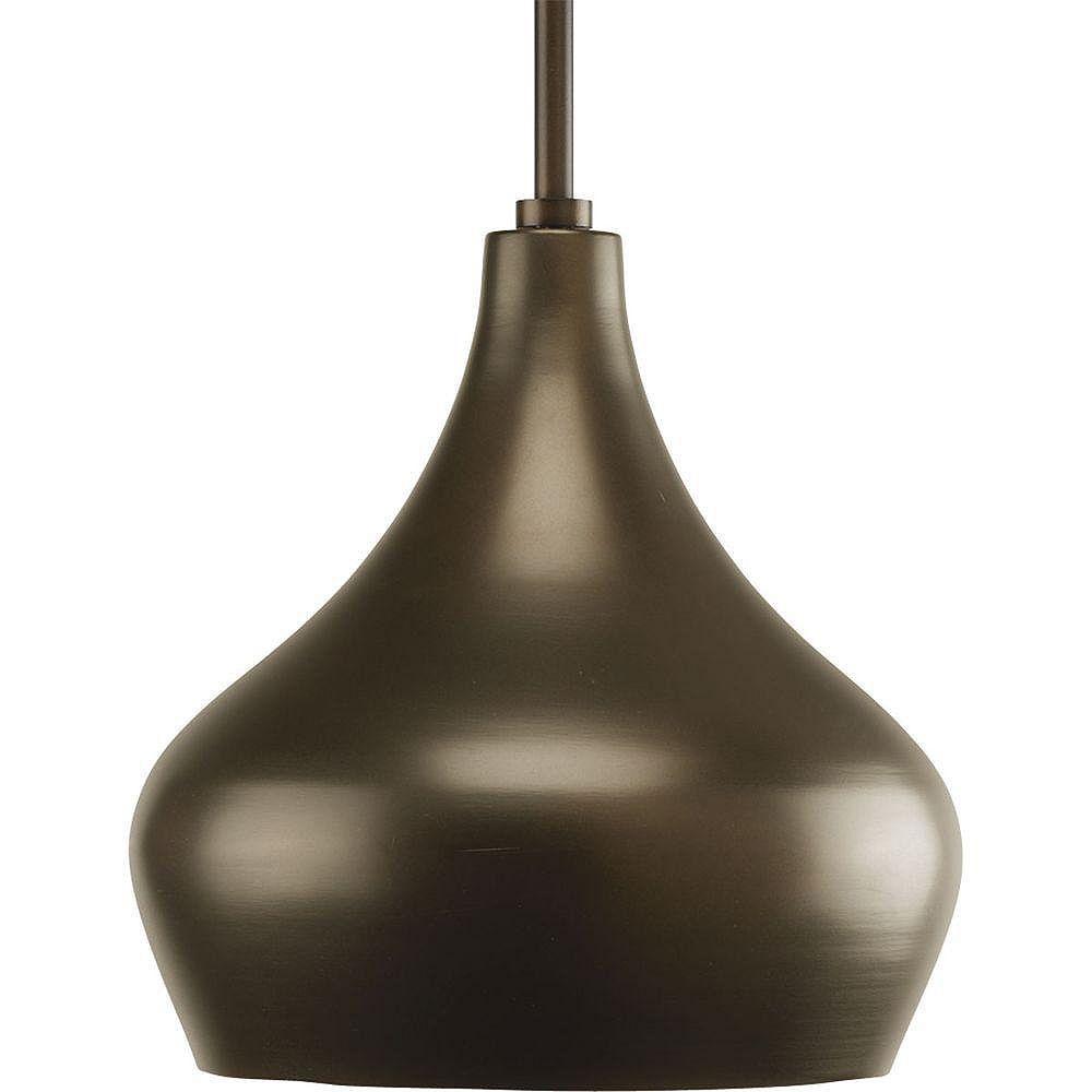 Progress Lighting Suspension à 1 Lumière, Collection Kiss - fini Bronze Lustre
