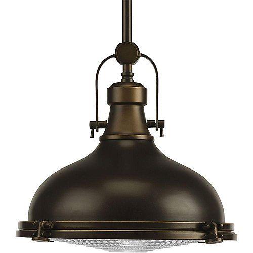 Suspension à 1 Lumière, Collection Fresnel - fini Bronze Lustre