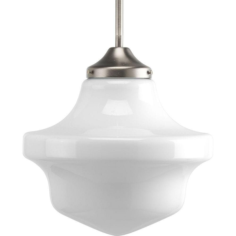 Progress Lighting Schoolhouse Collection Brushed Nickel 1-light Mini-Pendant