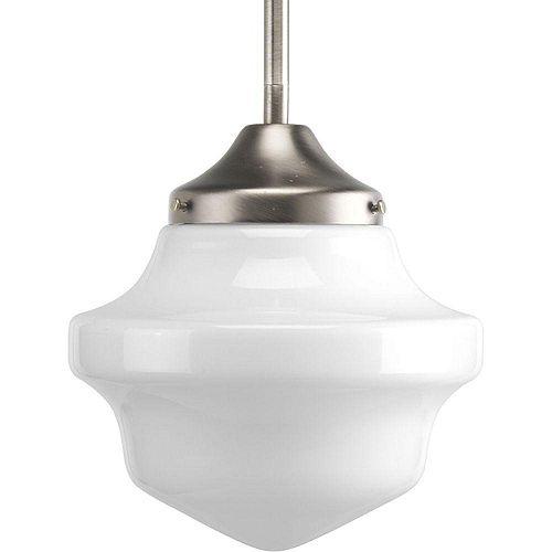 Mini suspension à 1 Lumière, Collection Schoolhouse - fini Nickel Brossé