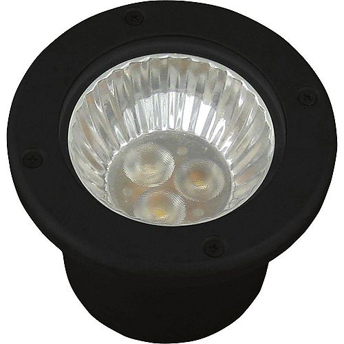 Luminaire de puits paysager noir à 1lampe DEL
