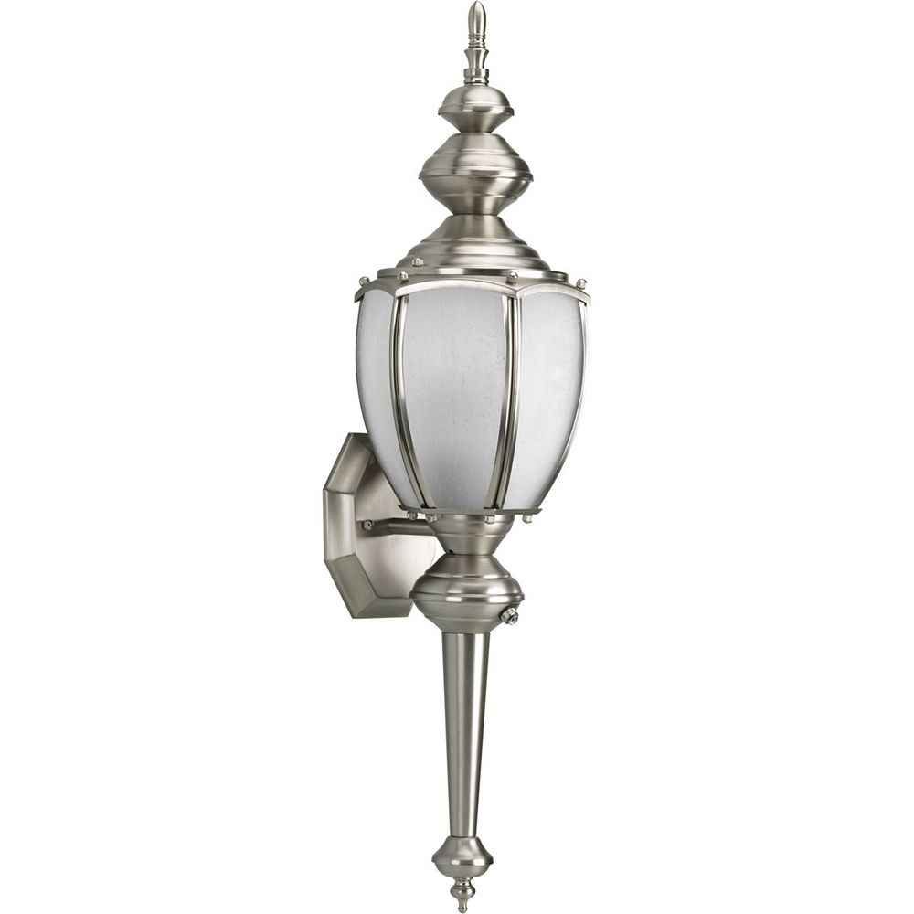 Progress Lighting Roman Coach Collection Brushed Nickel 1-light Wall Lantern