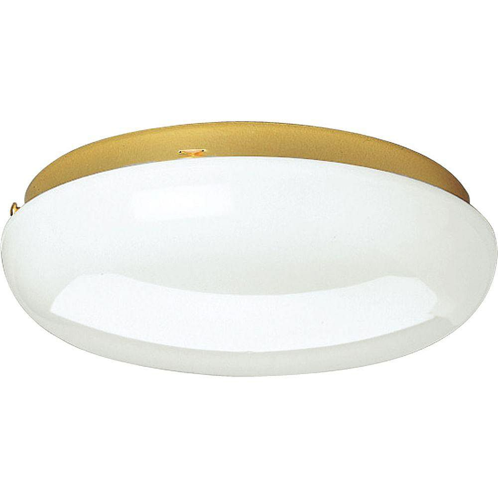 Progress Lighting Polished Brass 2-light Flushmount