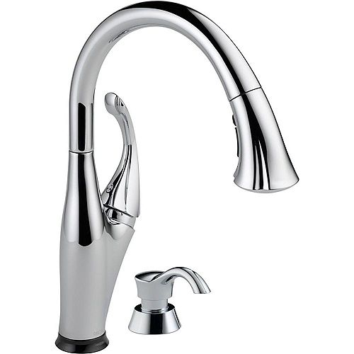 Delta Addison Single Handle Pull-Down Kitchen Faucet Featuring Touch2O Technology