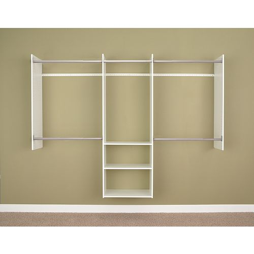 Deluxe 4 ft. to 8 ft. Starter Closet in White