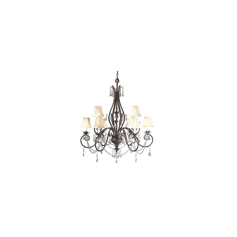 World Imports Berkeley Square Collection 9-Light Bronze Chandelier
