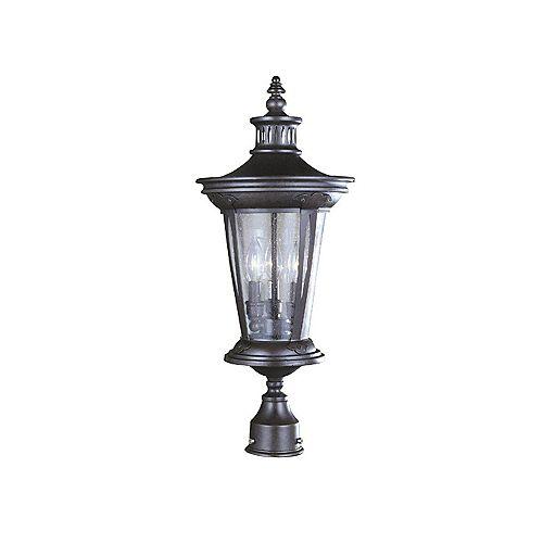 Lanterne extérieure sur poteau à 3 lampes