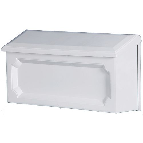 White Windsor Wall-Mount Mailbox