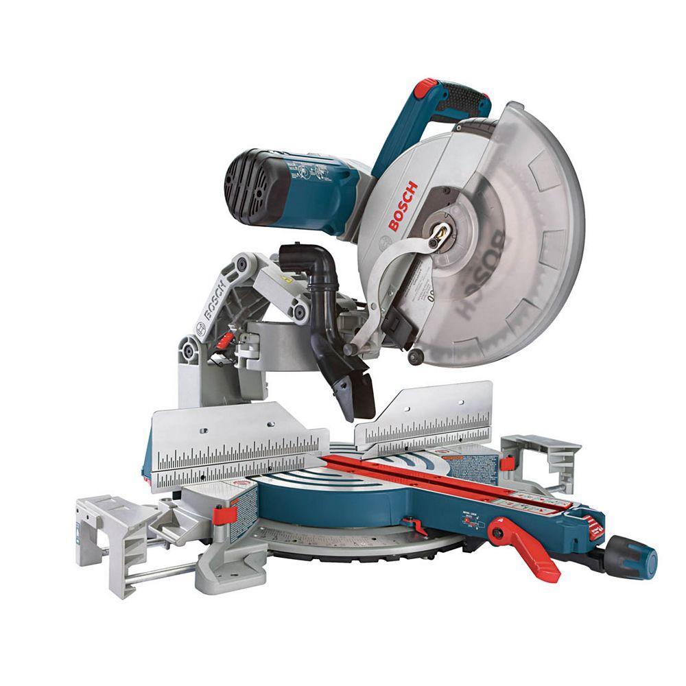 Bosch Scie à onglets coulissante à deux niveaux de 12 pouces, avec lame au carbure et système de protection de la lame, 120 V, avec fil.