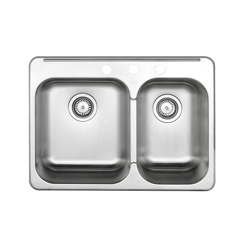 200 200/20 Bowl Kitchen Sink in Brushed Stainless Steel