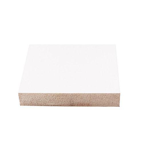 3/4-inch x 2 1/2-inch x 96-inch LDF Primed Fibreboard Baseboard Moulding