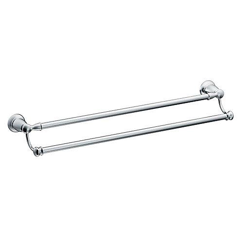 Banbury Double Towel Bar - Chrome 24 Inches