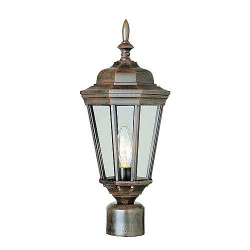 Luminaire de lampadaire biseautée, rouille