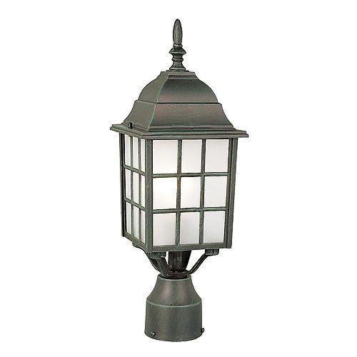 Luminaire de lampadaire armature à facettes, vert pin