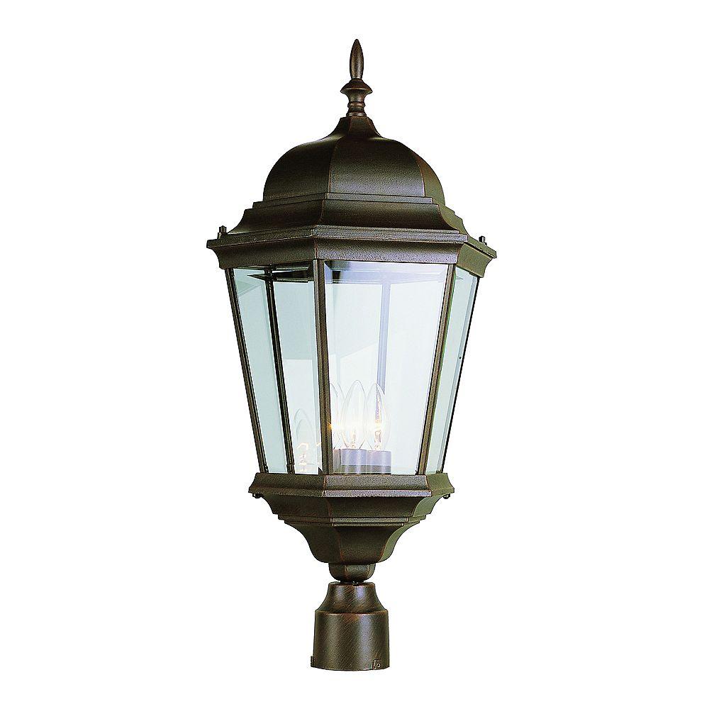 Bel Air Lighting Lampadaire, verre biseauté, rouille