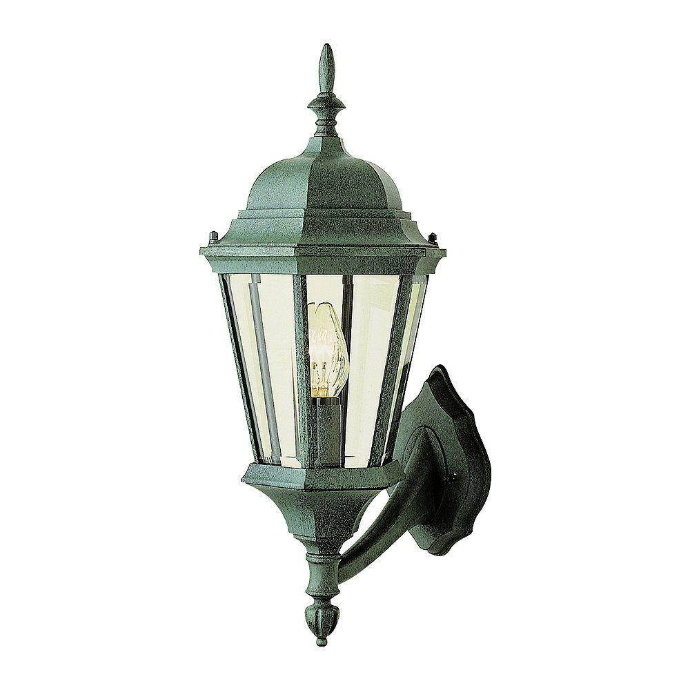 Bel Air Lighting Applique surmontée d'un fleuron, vert pin