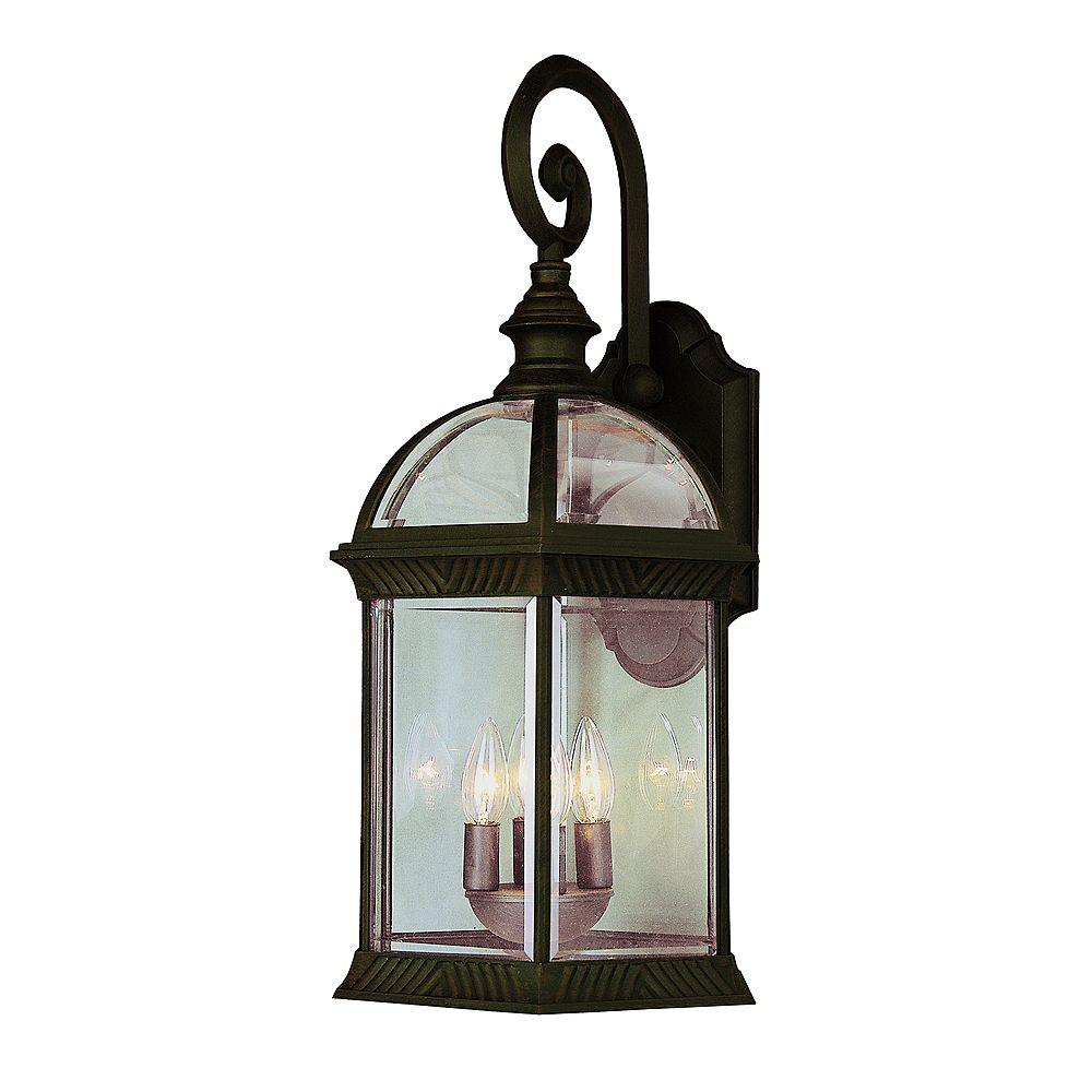 Bel Air Lighting Rust Glass Framed Wall Light - Large