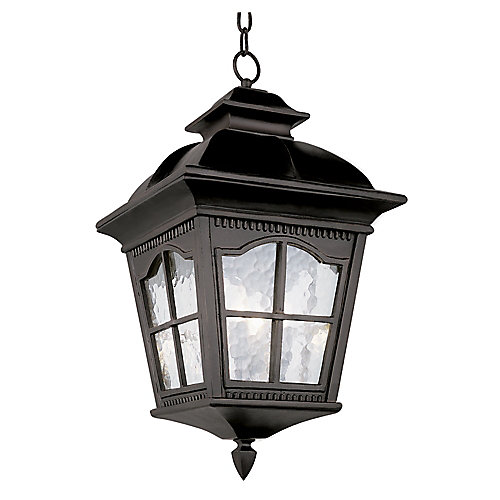 Black Scalloped Window Hanging Light - Medium