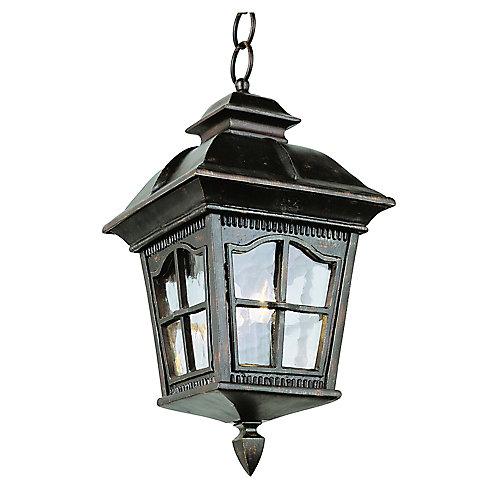 Lampe suspendue à facettes festonnées, rouille  - grande