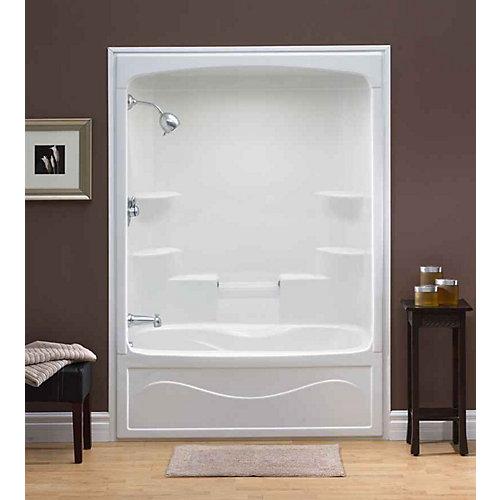 Liberty 60-inch x 88-inch x 34-inch 6-shelf Acrylic 1-Piece Right Hand Drain Tub & Shower