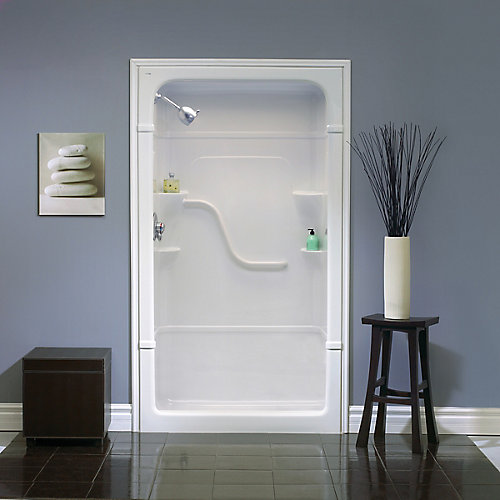 """Madison 34.5-Inch D x 50"""" W 84.5"""" H 3-Piece Acrylic Rectangle Shower Stall in White Shower Stall"""