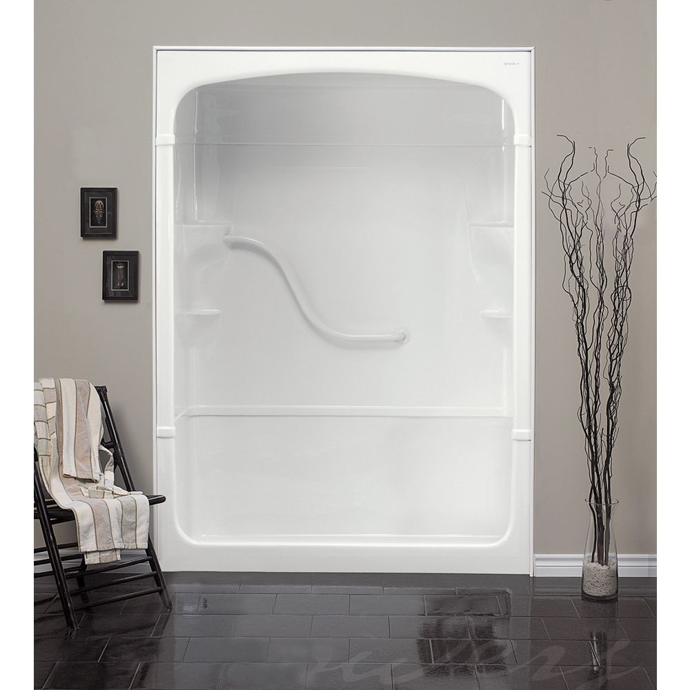 Mirolin Madison 33.25-Inch D x 60-inch W x 88-inch H Rectangle 1-Piece Acrylic Shower Stall in White