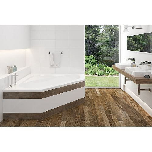Soho 1 Acrylic Irregular Corner Drop-in Non Whirlpool Bathtub in White