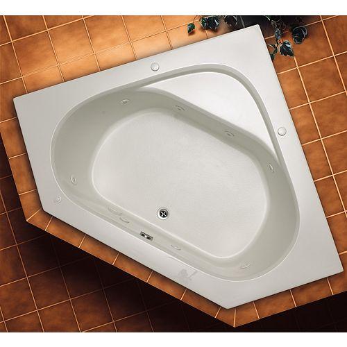 Soho 1 Acrylic Irregular Corner Drop-in Whirlpool Bathtub in White