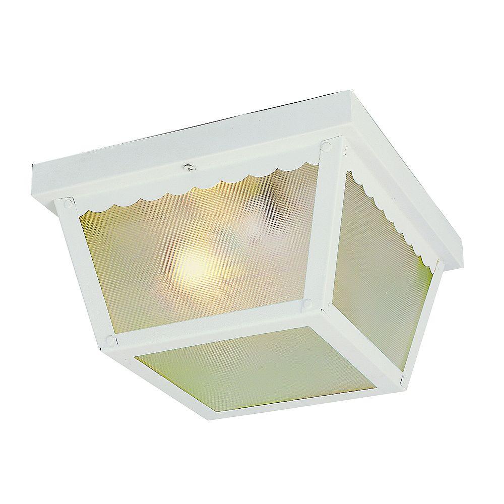 Bel Air Lighting Plafonnier rectangulaire blanc, 17,78 cm (7 po)