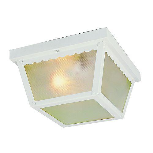 Bel Air Lighting White Rectangle 7 inch Ceiling Light