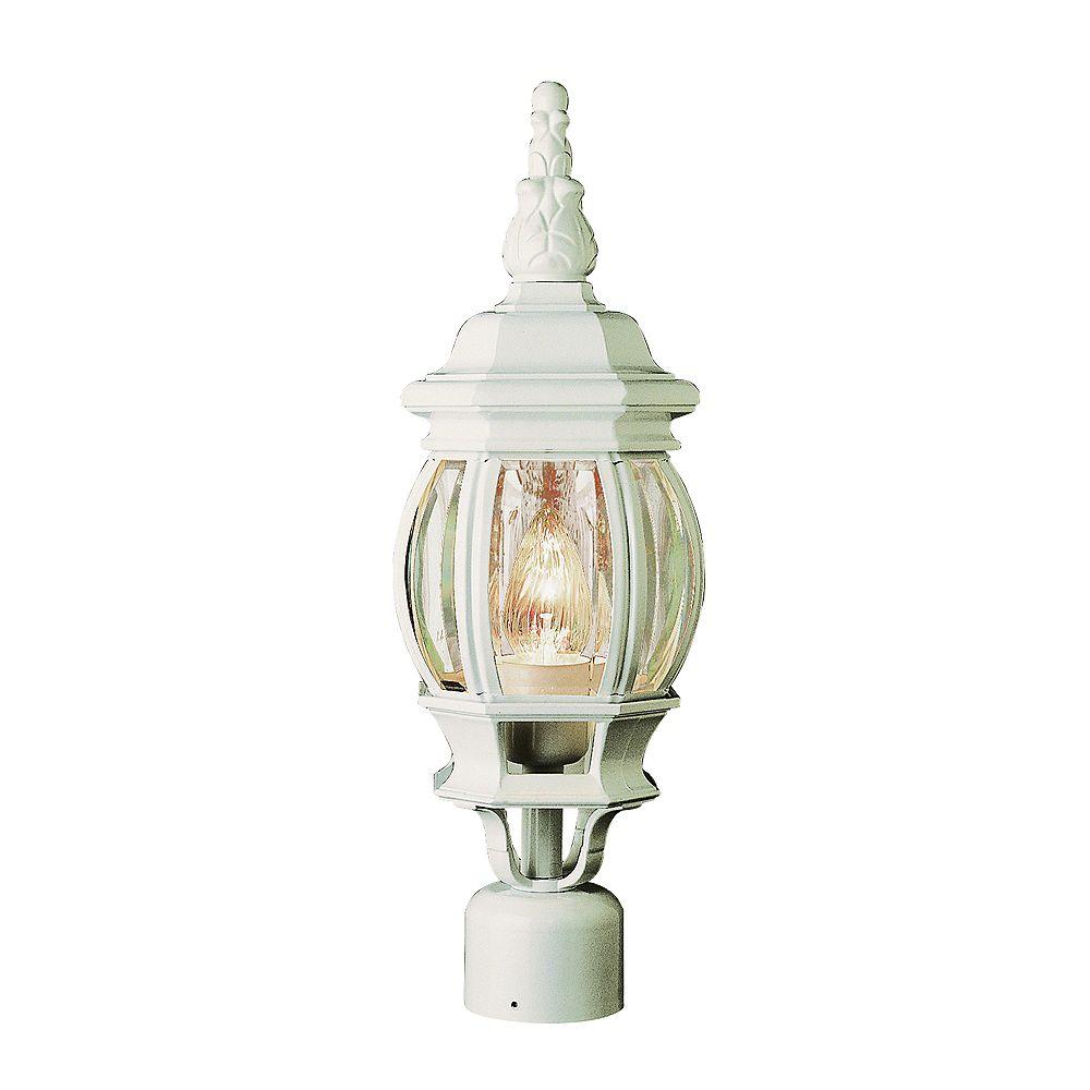 Bel Air Lighting Lampadaire à fleuron en forme de feuille, blanc, 48,26 cm (19 po)