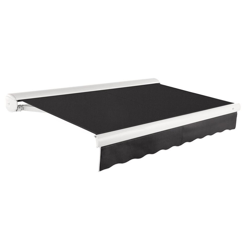 Beauty-Mark 5,49m (18pi) VICTORIA   Auvent rétractable motorisé   (Projection 3,05m [10pi]) (moteur droit)   - Noir