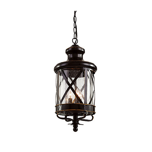 Chandler 3-Light Rubbed Oil Bronze Hanging Lantern