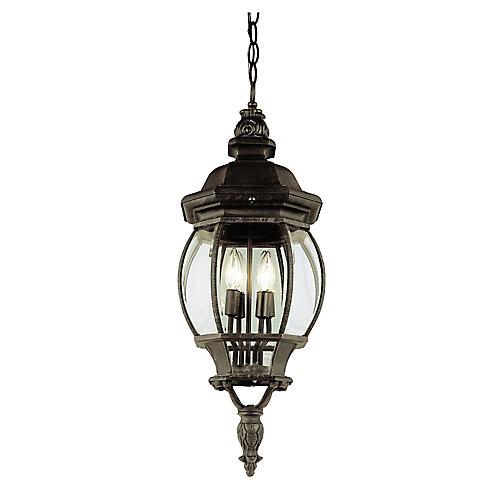 Lanterne suspendue à fleuron en forme de feuille, rouille, 81,28 cm (32 po)