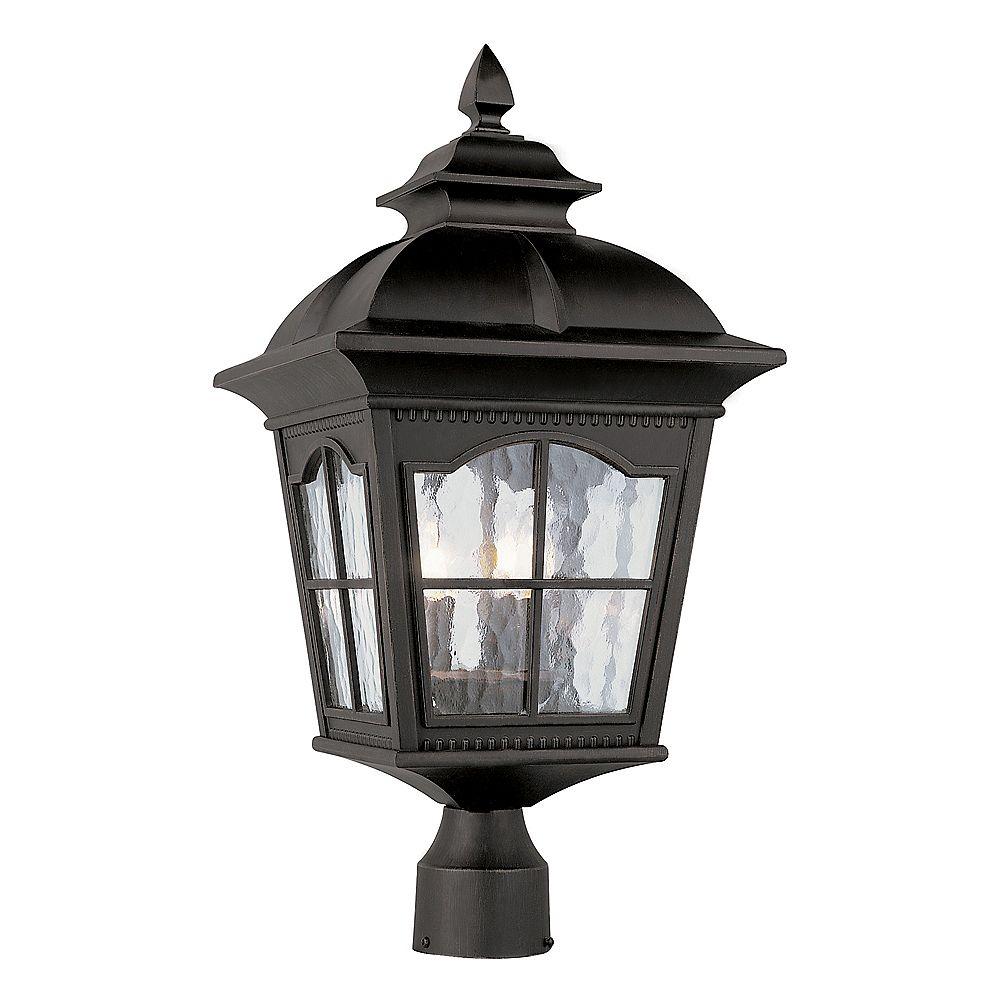 Bel Air Lighting Lampadaire à facettes festonnées, noir - grand