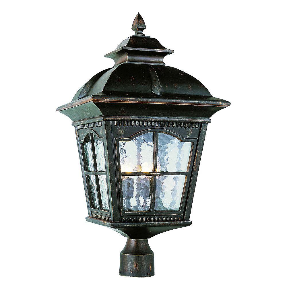 Bel Air Lighting Lampadaire à facettes festonnées, rouille  - grand