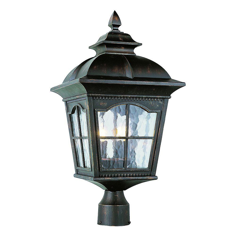Bel Air Lighting Lampadaire à facettes festonnées, rouille - moyen