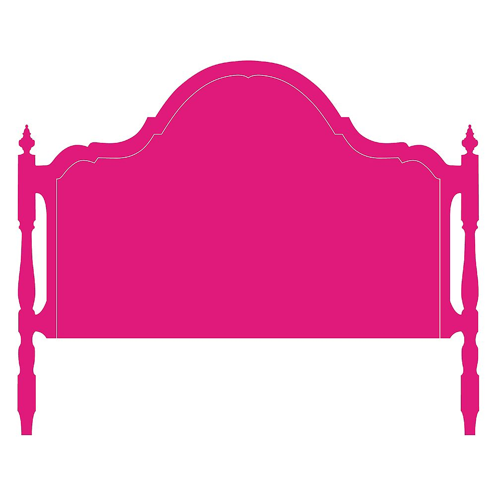 Blik Olivia Headboard, Queen Wall Decal - Raspberry