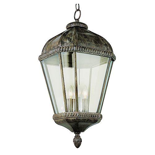 Bel Air Lighting Patina Beveled Frame Hanging Light - Medium