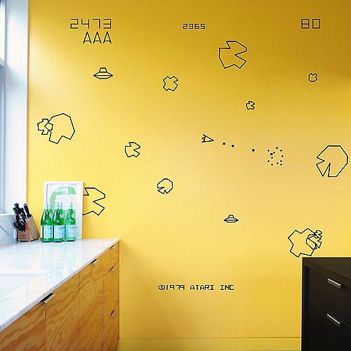 Asteroids Re-Stik Wall Decal