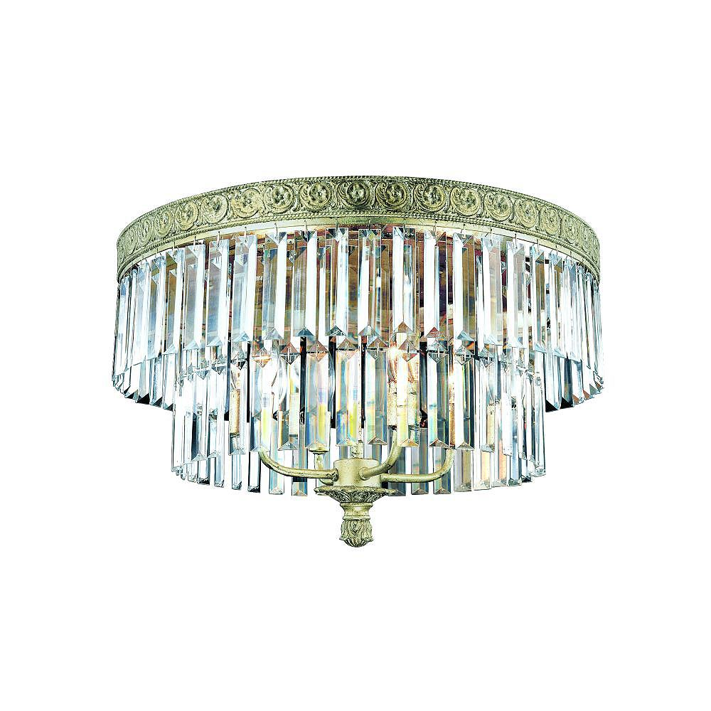 Eurofase Clairemont Collection 4-Light Artisan Gold Flush Mount