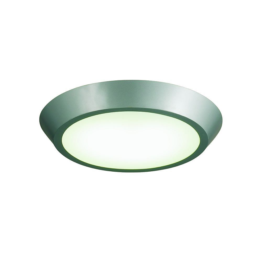 Eurofase Devo Collection 1-Light Silver Flush Mount