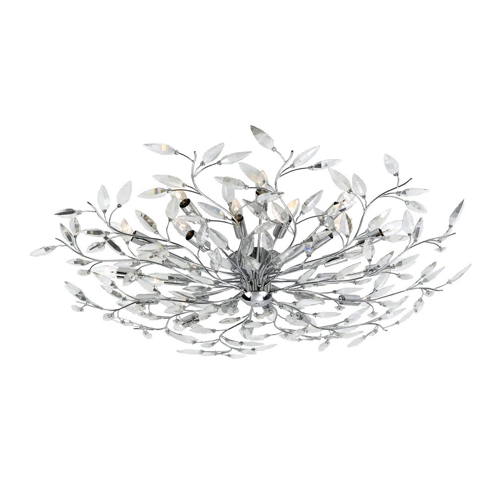 Eurofase Felina Collection 24-Light Chrome Flush Mount