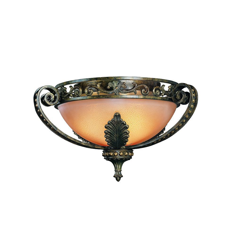 Eurofase Gallante Collection 3-Light French Gold Flush Mount