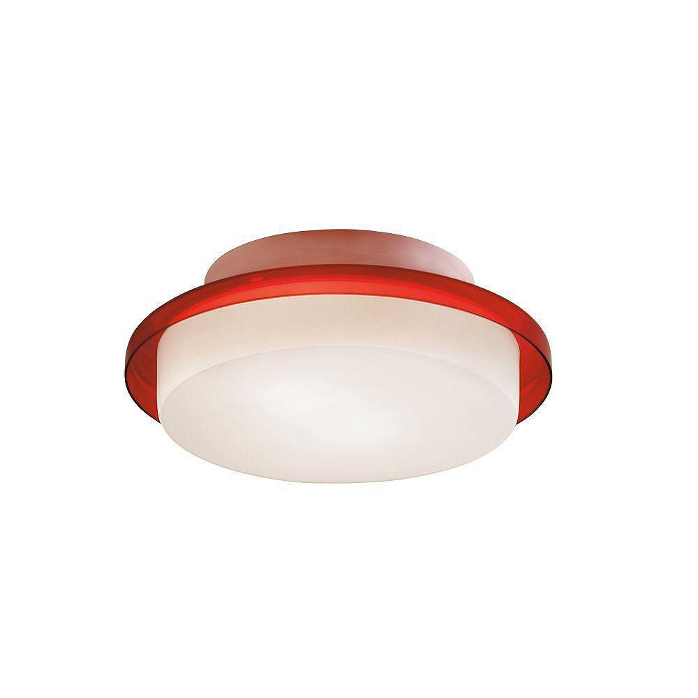 Eurofase Logen Collection 2-Light Red Flush Mount