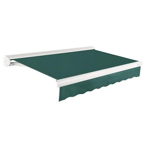 Beauty-Mark Victoria 16 ft. Manual Retractable Luxury Cassette Awning (10 ft. Projection) in Forest