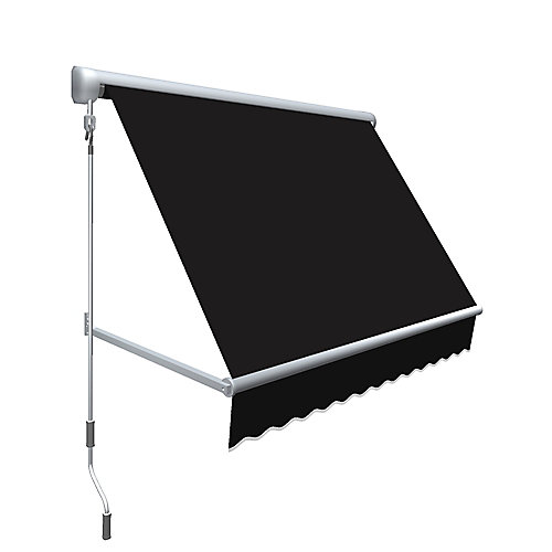 Mesa 4 ft. Retractable Window Awning (24-inch Projection) in Black