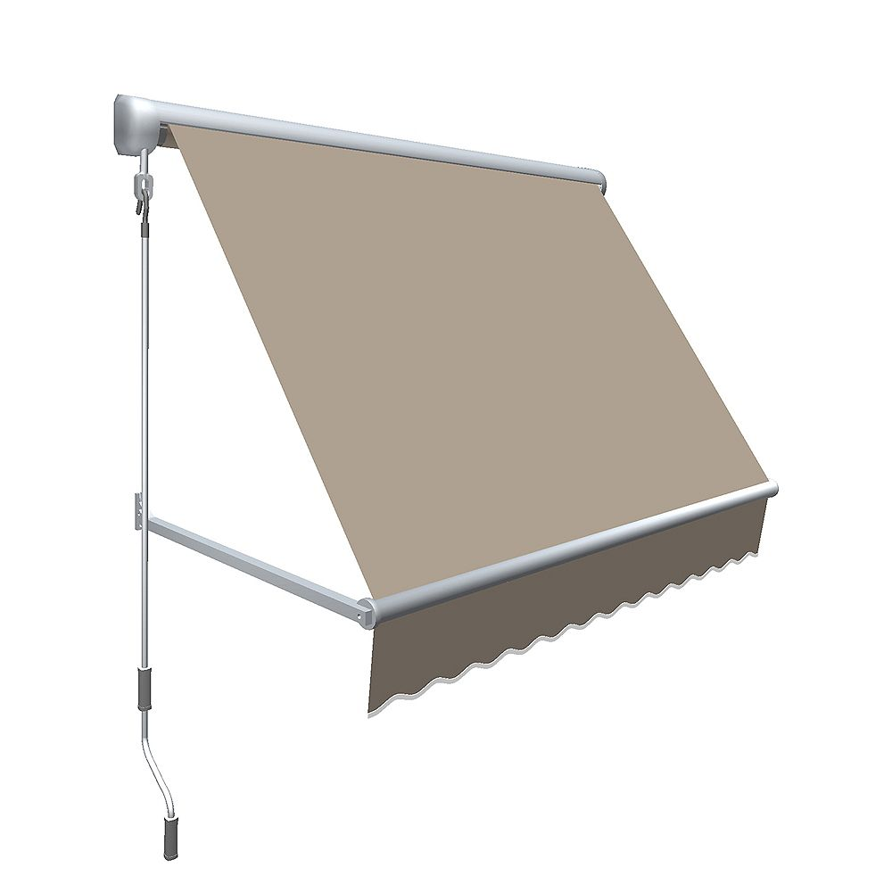Beauty-Mark Mesa 6 ft. Retractable Window Awning (24-inch Projection) in Linen